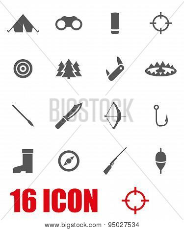 Vector Grey Hunting Icon Set