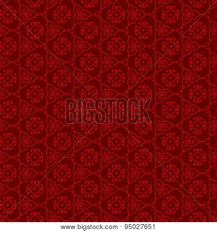 Seamless vintage Chinese traditional window tracery triangle pattern background.