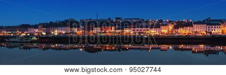 Panoramic View Of Waterford, Ireland At Night