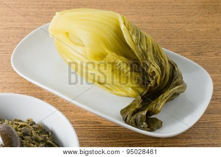 Pickled Cabbage With Chopped Pickled Green Cabbage