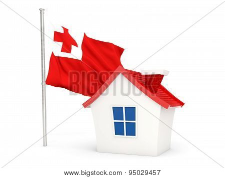 House With Flag Of Tonga
