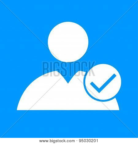 Flat Icon Of Add Friend