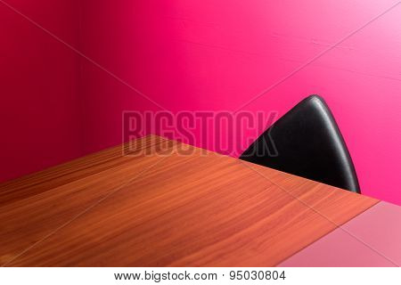 Abstract Wall, Chair & Desk