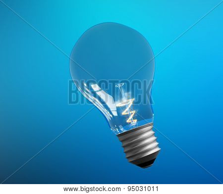 Explosion of ideas. Lamps - template. Colour background. Path included.