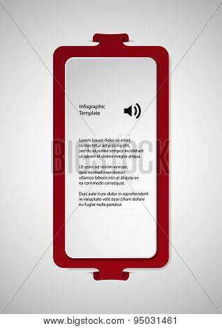 Illustration With Red Shape Template On Light