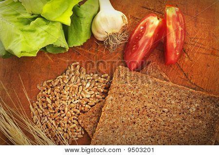 Sliced integral bread
