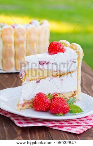 Strawberry Cake Charlotte