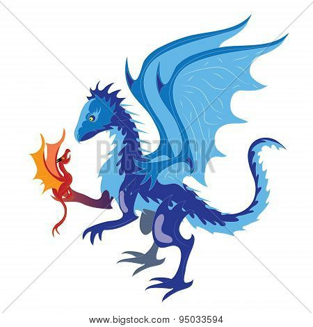 Ice dragon and fiery dragon.