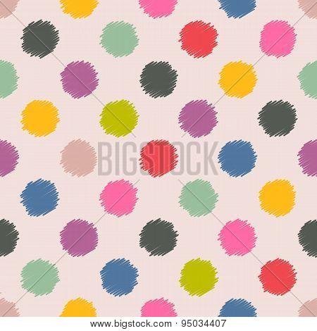 Scribbled Spots Color Pattern Background