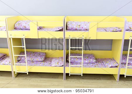 Modern Kindergarten Bedroom With Small Beds