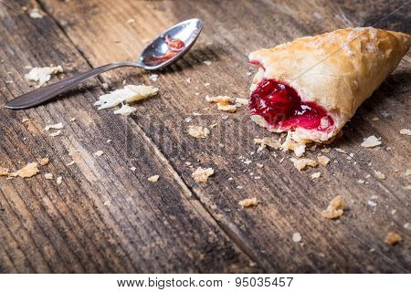 Breakfast Pastries With Jam And Spoon