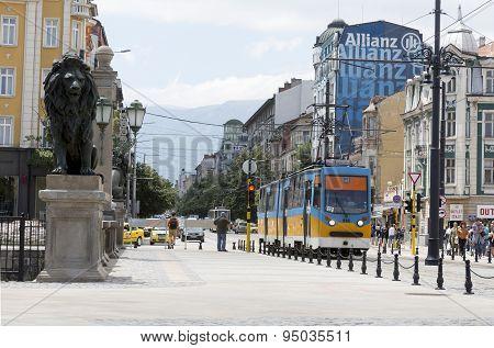 Tram In Sofia, Bulgaria
