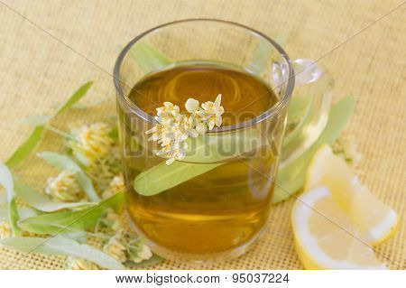 Cup Of Linden Tee With Lemon