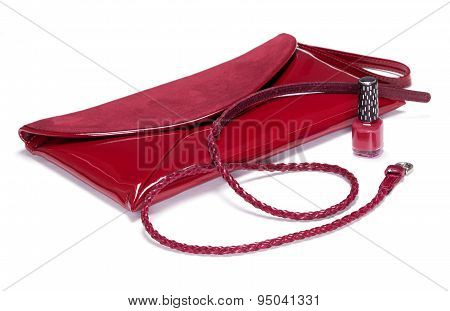 Clutch Bag, Belt And Nail Polish
