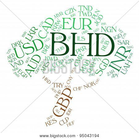 Bhd Currency Indicates Foreign Exchange And Currencies