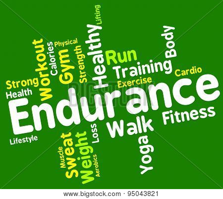 Endurance Word Means Staying Power And Enduring