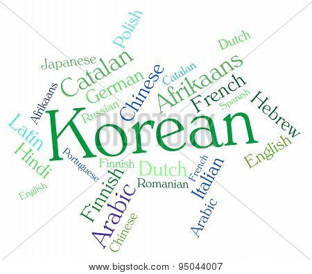 Korean Language Shows Wordcloud Words And International