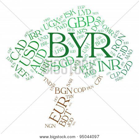 Byr Currency Indicates Forex Trading And Banknote