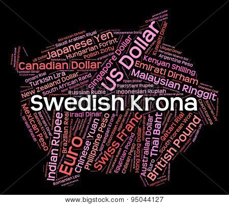 Swedish Krona Indicates Foreign Exchange And Coinage