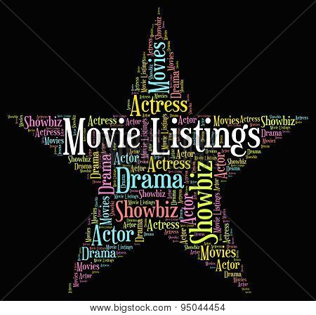 Movie Listings Shows Hollywood Movies And Catalogs