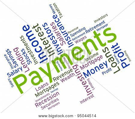 Payments Word Indicates Words Remittance And Subscription