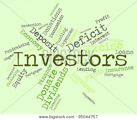 Investors Word Means Return On Investment And Savings
