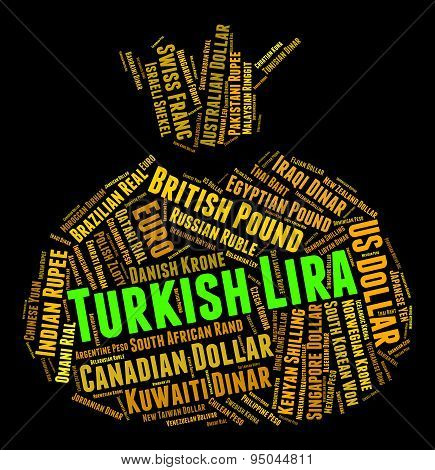 Turkish Lira Means Worldwide Trading And Exchange