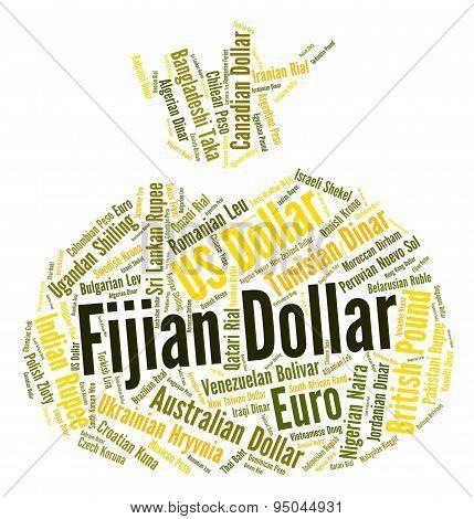 Fijian Dollar Indicates Foreign Exchange And Broker