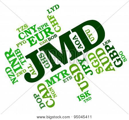 Jmd Currency Indicates Exchange Rate And Broker