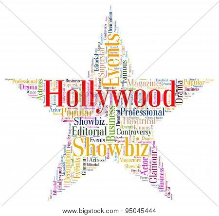 Hollywood Star Means Los Angeles And California