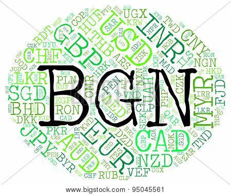 Bgn Currency Shows Worldwide Trading And Bulgarian