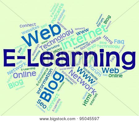 Elearning Word Means World Wide Web And College