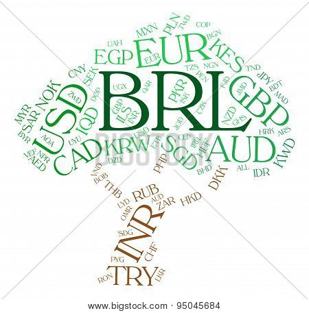Brl Currency Shows Forex Trading And Banknotes