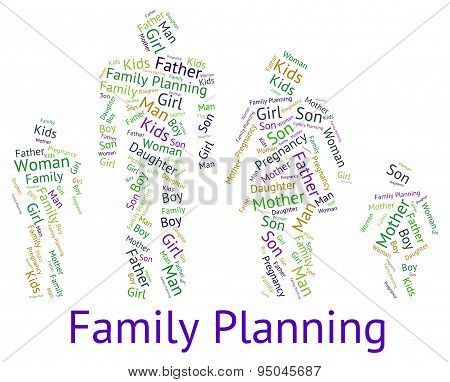Family Planning Represents Blood Relation And Children