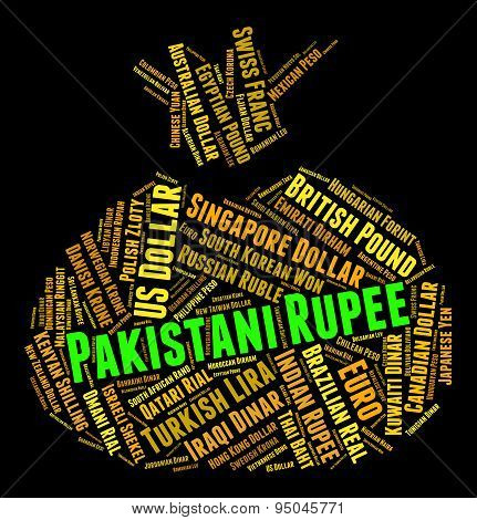 Pakistani Rupee Represents Foreign Currency And Coin