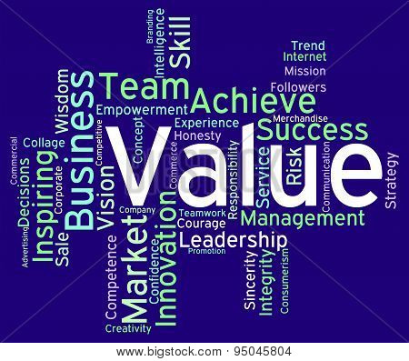 Value Words Indicates Quality Control And Approval