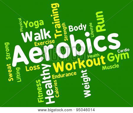 Aerobics Words Shows Get Fit And Cardio