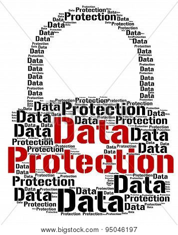 Data Protection Shows Words Secured And Facts