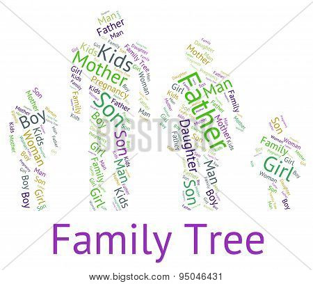 Family Tree Indicates Hereditary Ancestry And Text