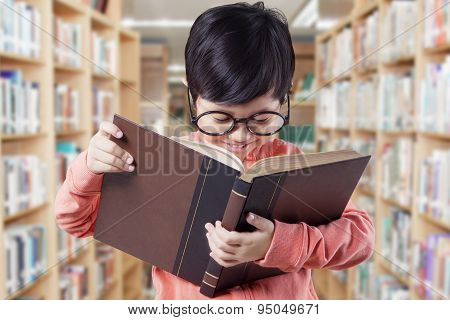 Pretty Girl With Casual Clothes Reads Book