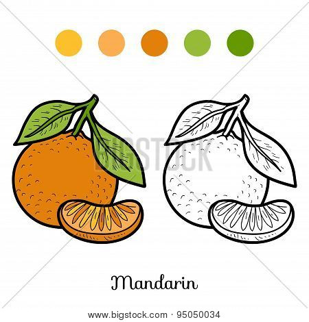 Coloring Book: Fruits And Vegetables (mandarin)
