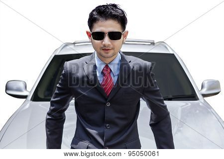 Successful Man With Expensive New Car