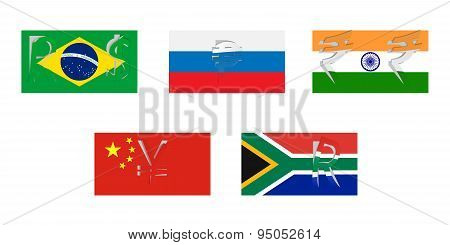 Vector Flags Of Brics
