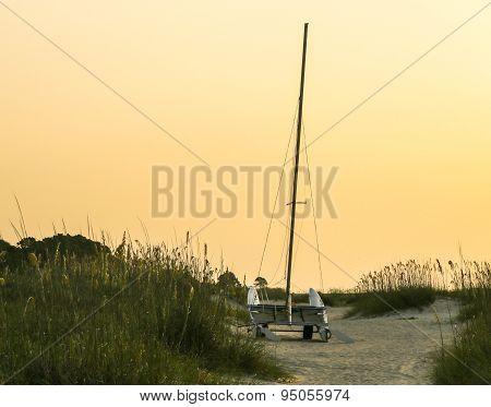 Catamaran Ready for Transport