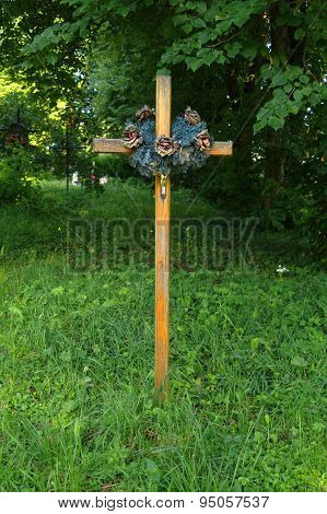 Anonymous Cross In The Old Cemetery