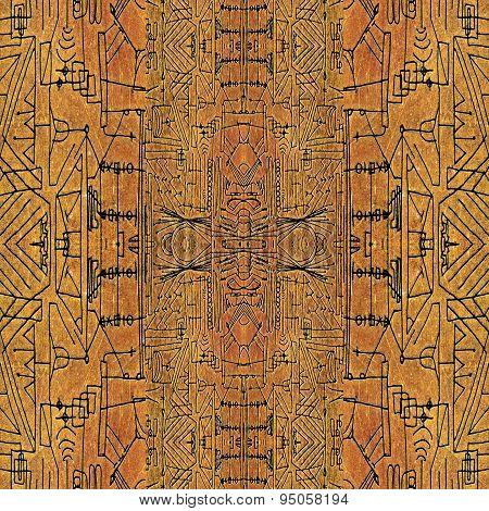 Geometric Symbols Tribal Pattern