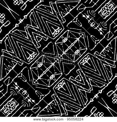 Black And White Tirbal Pattern