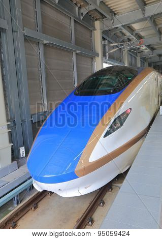 Hokuriku Sinkansen bullet train Japan