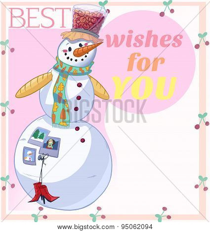 Snowman Best Wishes