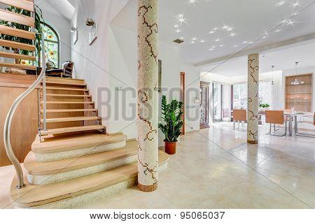 Stairway In Luxury Residence